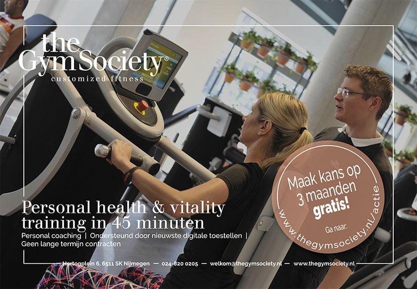 Advertentie Krant The Gym Society