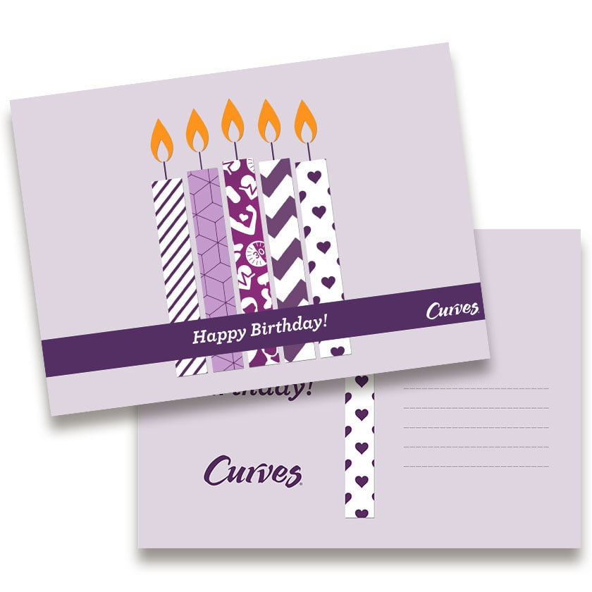 Grafisch design Wenskaart Happy Birthday - Curves Products