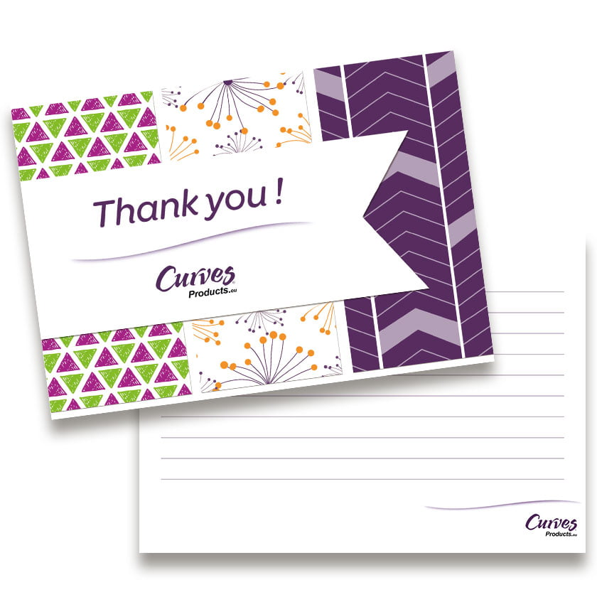 Grafisch design Wenskaart Thank You - Curves Products
