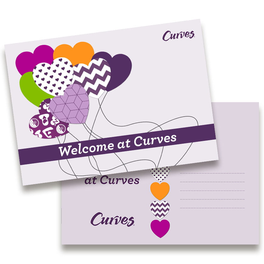 Grafisch design Wenskaart Welcome at Curves - Curves Products