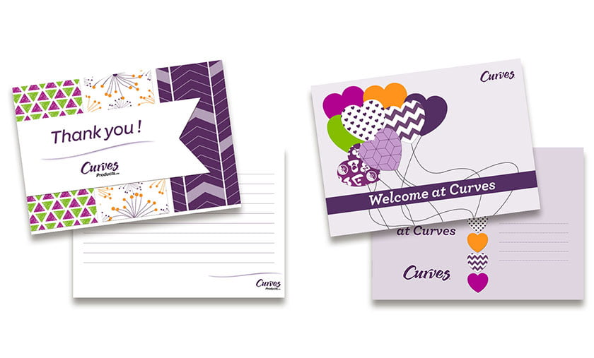 Grafisch design wenskaarten Curves Products
