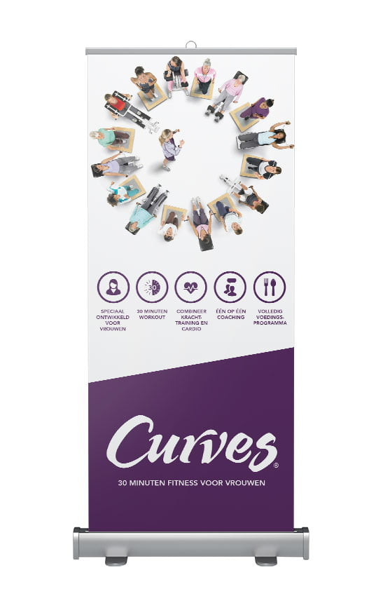 Roll-up banner Curves Circuit