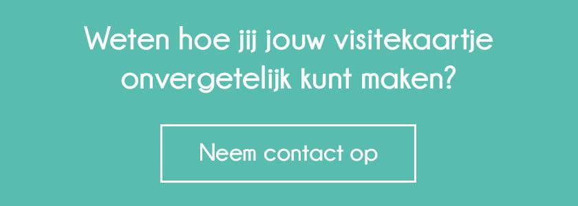 Neem contact op - Visitekaartje