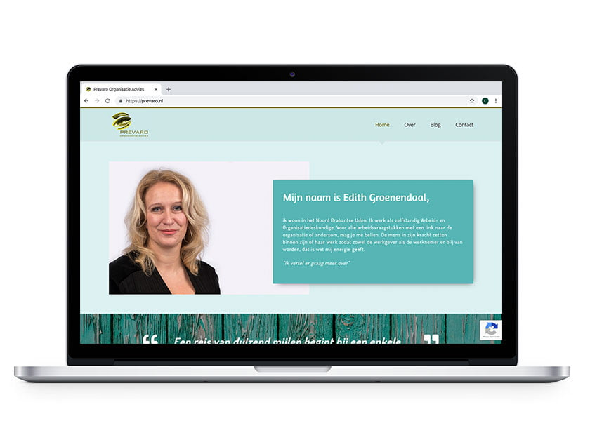 Webdesign Prevaro Organisatie Advies